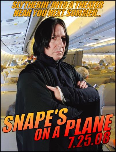 Snape's on aplane!